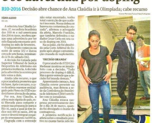 Clipping Folha Sao Paulo Doping