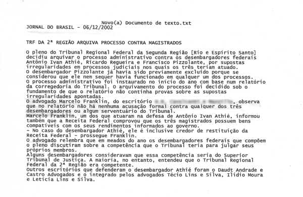 Clipping Marcelo Franklin Advogado Jornal Do Brasil