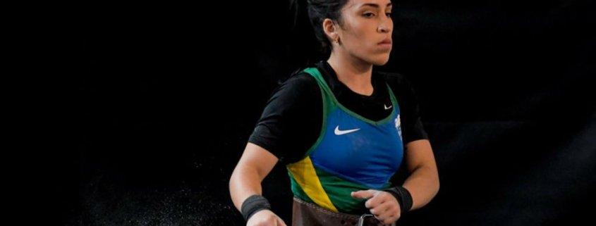 Natasha Figueiredo em torneio pela seleção brasileira